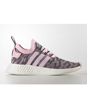 Adidas NMD R2 Primeknit Shoes Pink BY9521