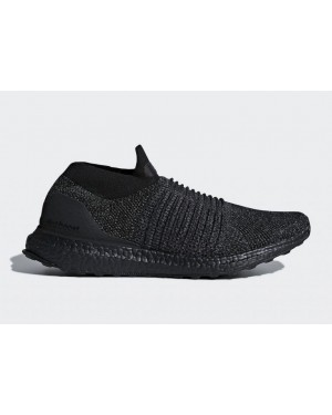 Adidas Ultra Boost Laceless Mid Triple Black BB6222