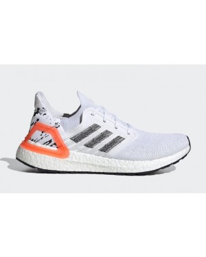 adidas Ultra Boost 2020 Footwear White/Core Black-Solar Orange EG0699