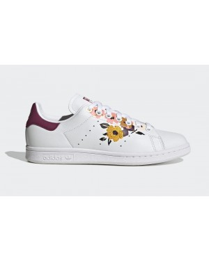 adidas Stan Smith White/Power Berry-Gold Metallic FW2524