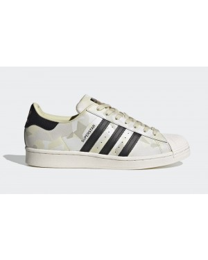 "adidas Superstar ""Camo"" Chalk White/Core Black-Sand FW4392"