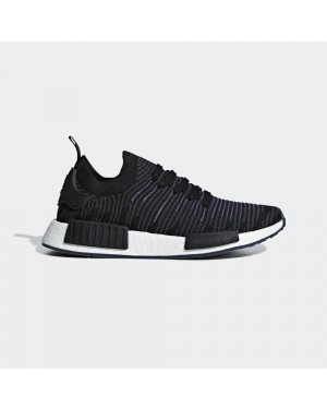 adidas NMD_R1 STLT Primeknit Shoes Black CG6270