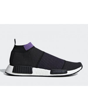 NMD City Sock Black/Purple - G28196 - Adidas