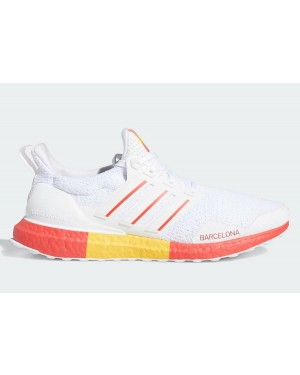 "Adidas Ultra Boost DNA ""Barcelona"" FY2896 White/Red/Yellow"